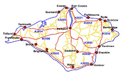Isle Of Wight Challenge - Map of iow