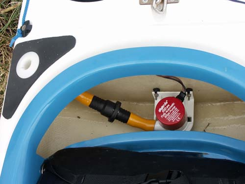 Outfitting sea kayaks the pump installation behind the seat and the battery installed in the day hatch freerunsca Choice Image